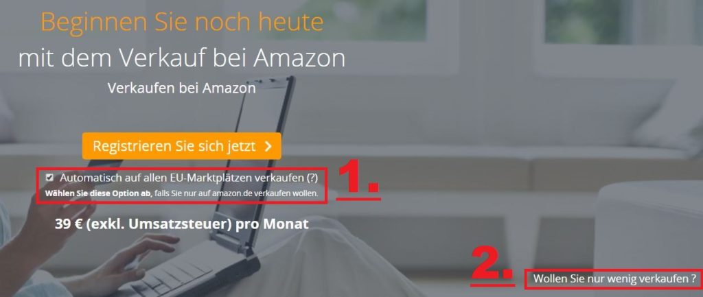Amazon Seller Account erstellen